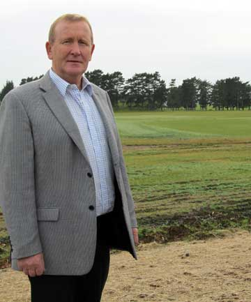 UNFINISHED BUSINESS: Karaka Sports Trust chairman Roger Mcrae says drainage is ''critical'' if work already done on the sports field is not to be compromised.