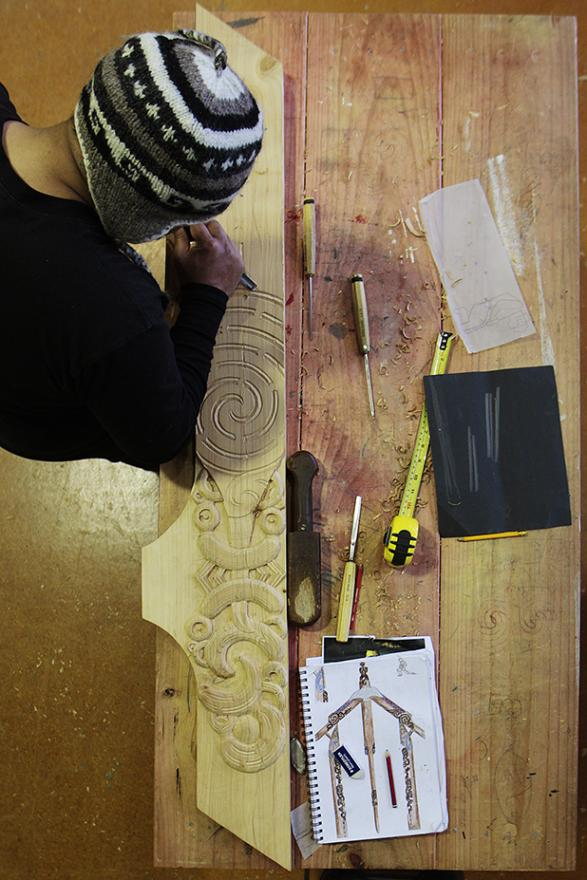WORKSHOP: Eighteen Te Wananga o Aotearoa carving students are working alongside nine of the country's masters as part of a symposium in Te Awamutu this week.