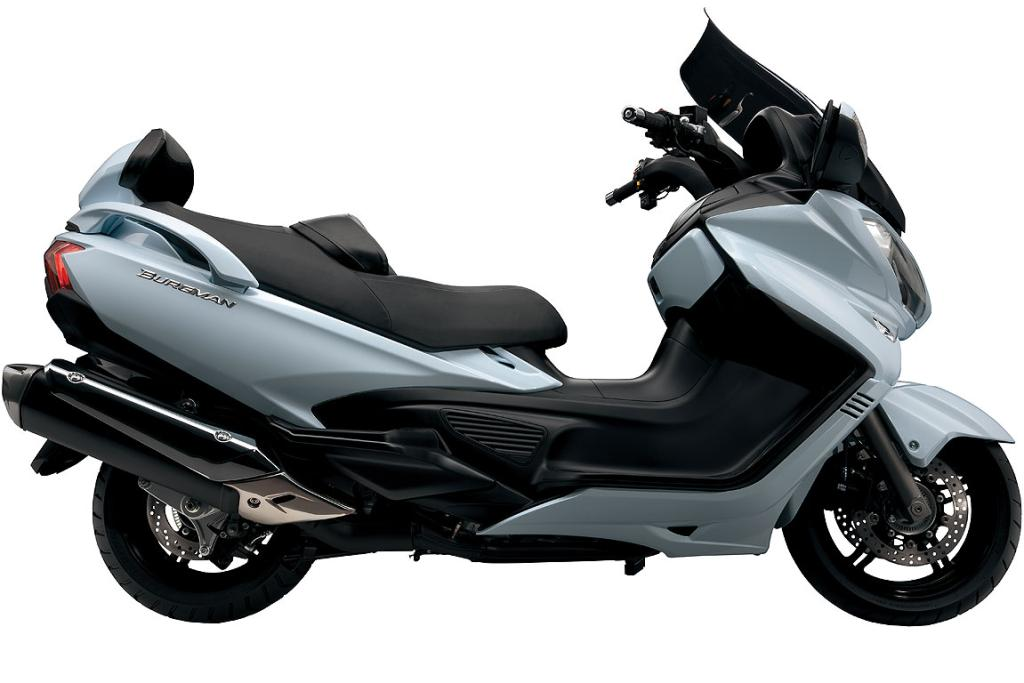The new Suzuki Burgman 650 Luxury Scooter.