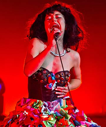 ON FIRE: Kimbra is up for six awards.