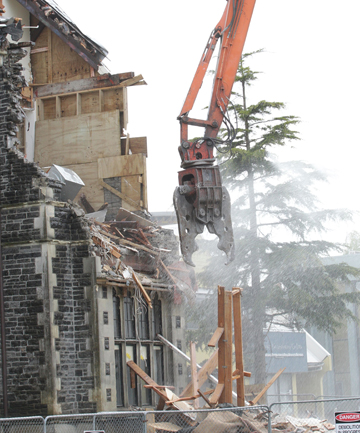 Cranmer Courts demolition