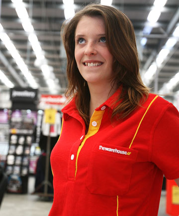 Coral Johnston, 16, in her Warehouse shirt
