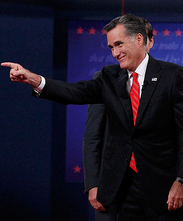 WINNER: Republican presidential nominee Mitt Romney received a boost in opinion polls after a strong performance in the first presidential debate.