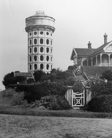 Braemar in the late 1920s, with the water tower intact, and the flight of steps that remains today.