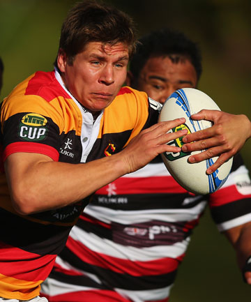 ON THE BURST: Piers Francis of Waikato makes a break.