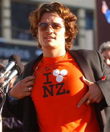 PARTY TIME: Orlando Bloom at the world premiere of the third movie in the trilogy Lord of the Rings in Wellington.