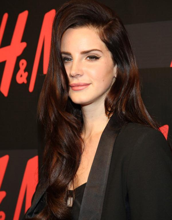 Lana del Ray shows off her sultry locks.