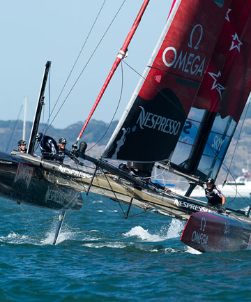 Emirates Team New Zealand had mixed results in San Francisco, a positive result in the match racing, but dropped the ball in the fleet racing final.