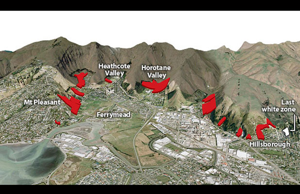Port Hills red zones
