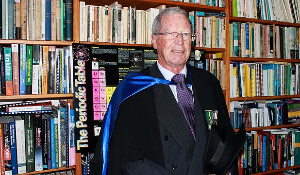 GEOLOGY GRADUATE: Bryan Drake, 71, graduated from Auckland University with a masters in geology