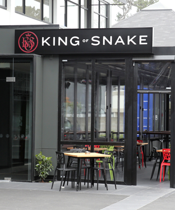 HERE TO STAY: King of Snake is tucked away in Victoria St.