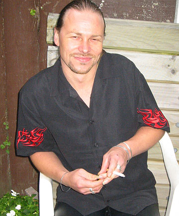 MAY HAVE DROWNED: Peter Black, 43, died after falling headfirst into a roadside drain near Te Papa.