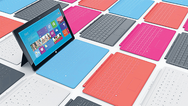 NEW DIMENSION: Microsoft will soon release Windows 8 Surface tablets.