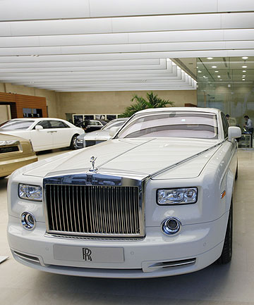 A cornish white Rolls-Royce
