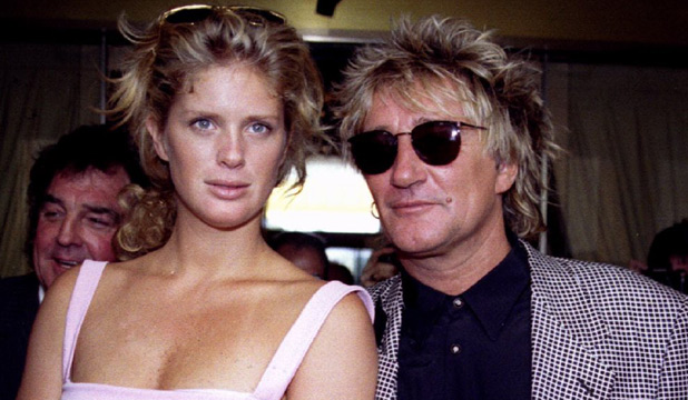 HAPPIER TIMES: Rachel Hunter and Rod Stewart before their bust up.