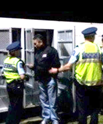 ARRESTED: It was unclear what Hone Harawira had been charged with.