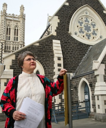 COSTLY: Vicar Indrea Alexander looks forward to the reopening of St Mary's, albeit with a $1m price tag.