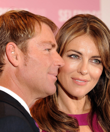 SPENDING LARGE: Shane Warne and Liz Hurley have reportedly bought a $11.7 million Georgian Country Estate in the UK, but won't be moving into it just yet.