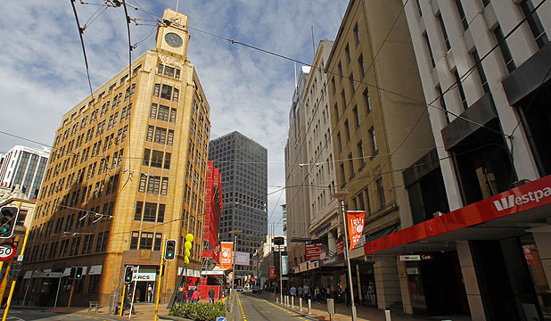 HIGH RISE: Owners of older buildings in Lambton Quay face expensive insurance premiums as a result of earthquake risk.