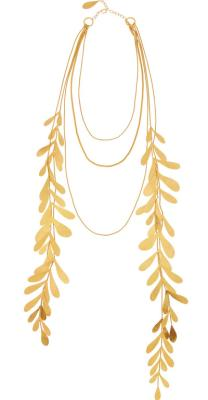 Herve van der Staeten gold necklace