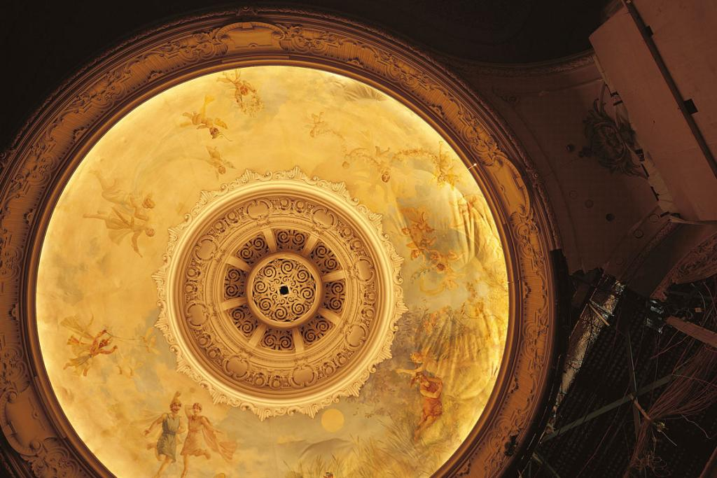The Isaac Theatre Royal ceiling dome.