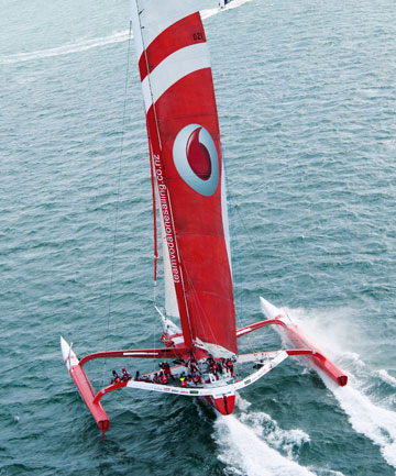 Simon Hull's ORMA60 Team Vodafone are clear favourites for the win in this years Coastal Classic.