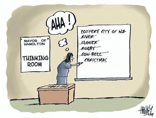 Mayor of Hamilton - Thinking room.