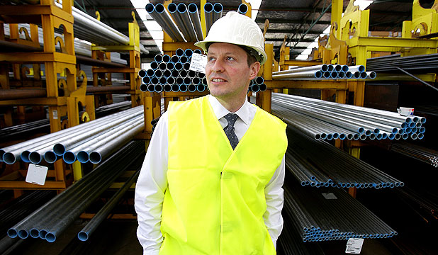 BUY BACK: Brokers were surprised by the strong demand when Arrium put its 50.3 per cent stake in Steel and Tube up for sale. Pictured is Steel & Tube chief executive Dave Taylor.