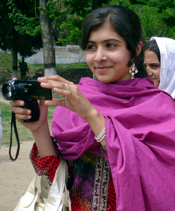 ADVOCATE: Malala Yousufzai, the 14-year-old schoolgirl who was  shot by the Taliban, is seen in Swat Valley, northwest Pakistan, in this undated file photo.