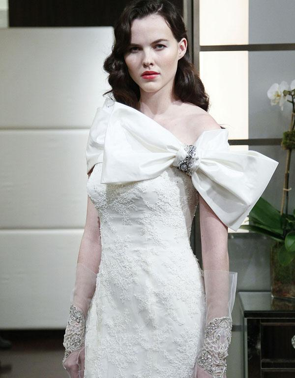 Hmmm, this dress by Badgley Mischka needs a bow, don't you think?