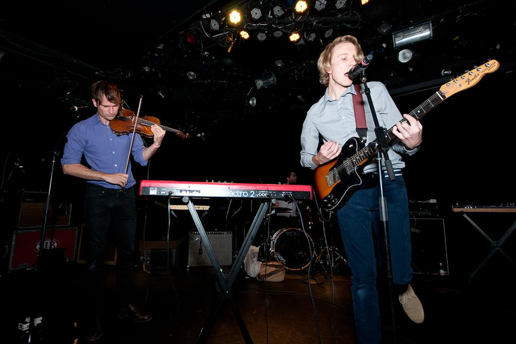 Lawrence Arabia performs at the CMJ NZ showcase in New York City.