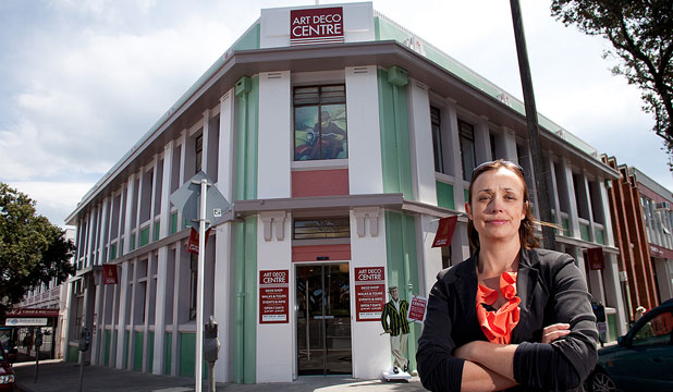 HERITAGE VALUED: Art Deco Trust general manager Sally Jackson welcomes the report on the safety of Napier's art deco buildings.
