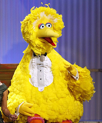 CALLING ALL MUPPETS: The so-called Million Puppet March is in response to Republican presidential candidate Mitt Romney's remarks calling for the elimination of funding for the Public Broadcasting Service, which airs the popular children's show Sesame Street. Pictured is Sesame Street character Big Bird.