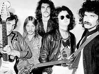 EARLY DAYS: Dragon in the late 1970s, with Todd Hunter on the right, hiding behind the walrus moustache.