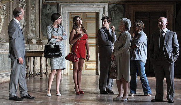 MOVING ON: A scene from To Rome with Love, starring Allen's latest Muore Penelope Cruz.