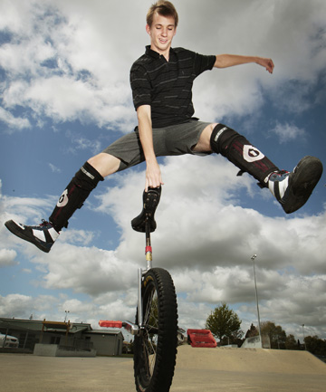 UNITY: Jayden Baker is organising NZUni Weekend –  the national unicycle championship being held in Hamilton this Labour Weekend.