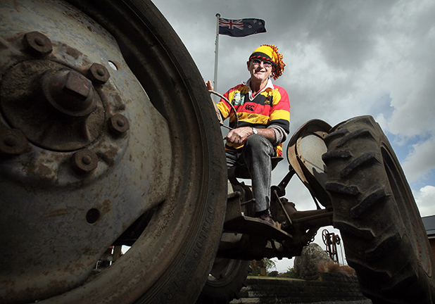 WAIKATO WINNER:  Bob Appleton decided, after winning the Ranfurly Shield from Taranaki, it was time his protesting tractor Myrtle returned home, too.