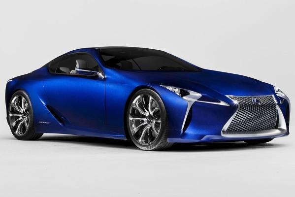 The Lexus LF-LC luxury hybrid sports car concept.