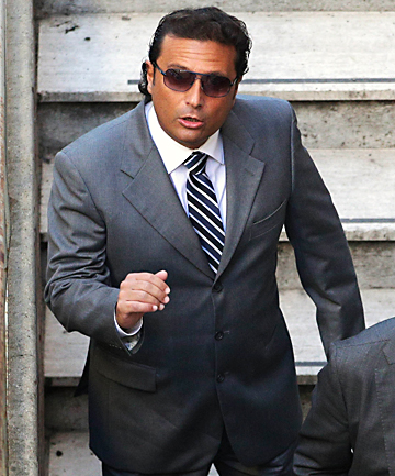 COURT DATE: Francesco Schettino, captain of the Costa Concordia cruise ship, arrives at the Moderno Theatre to attend a pre-trial hearing for the Costa Concordia disaster.