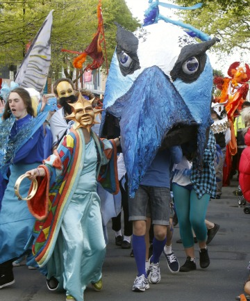 Nayland College takes part in the annual Masked Parade