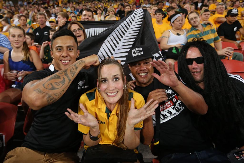 Fans eaglerly await kick-off at Suncorp Stadium in Brisbane.