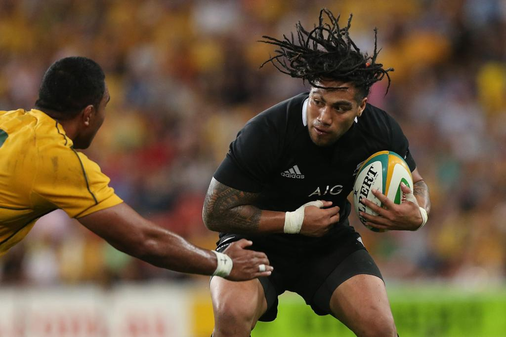Ma'a Nonu charges ahead for the All Blacks.