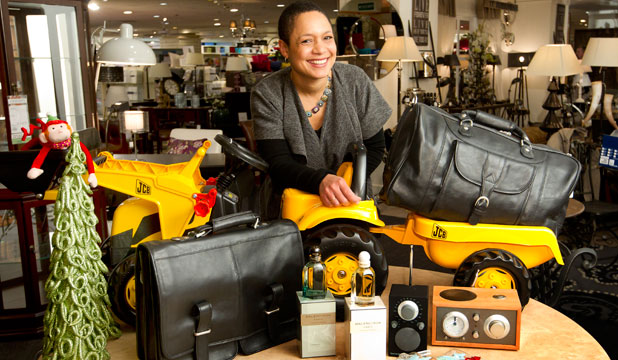 Tamanda Chinula with some gift ideas for Christmas buyers at Wellington's Kirkcaldie & Stains.