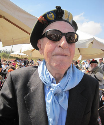 FOCUS ON PEACE: Italian De Bortoli Valentino, 92, fought against the Kiwis at El Alamein but is now their ally.