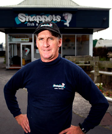 Snappers fish and chip shop owner Craig Cooke