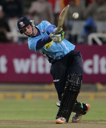 ALL ON THE LINE: Martin Guptill in action during the Aces' match against the Kolkata Knight Riders.