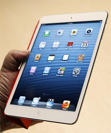 MINI ME: The new iPad Mini, unveiled by Apple at an event in San Jose.