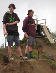Ross Taylor, 16, and Henry Smitstra, 15, want to keep their BMX dirt jumps.