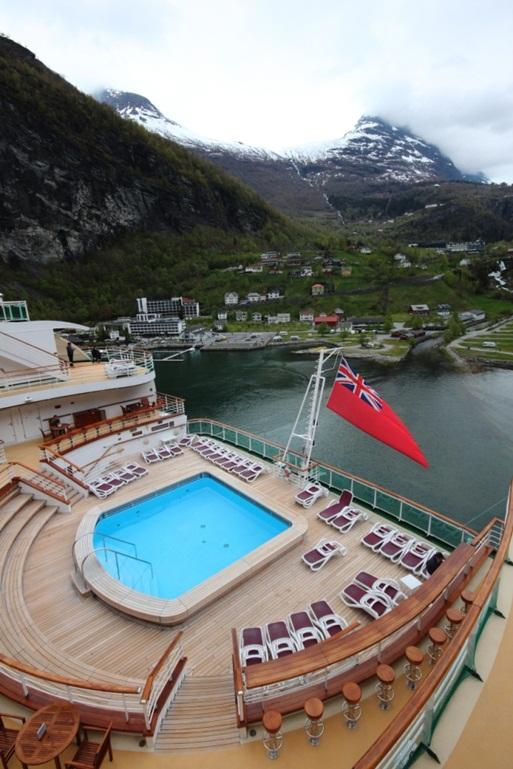 SEA VOYAGER: P&O's Ventura in Geiranger, Norway.