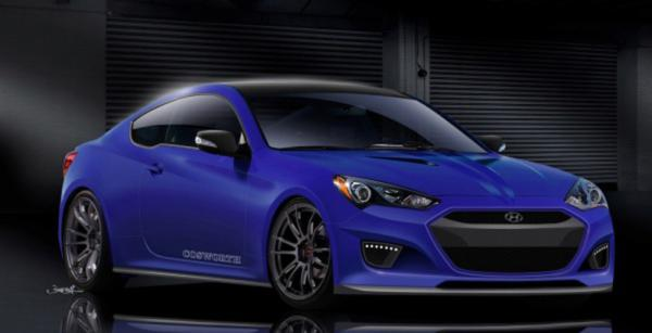 The Cosworth Hyundai Genesis Coupe for the 2012 SEMA show in Las Vegas.